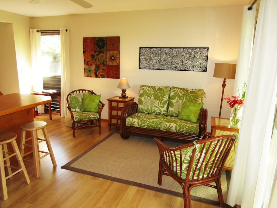 """""""Just right"""" blend of comfort and tropical decor to ensure your stay is comfortable."""