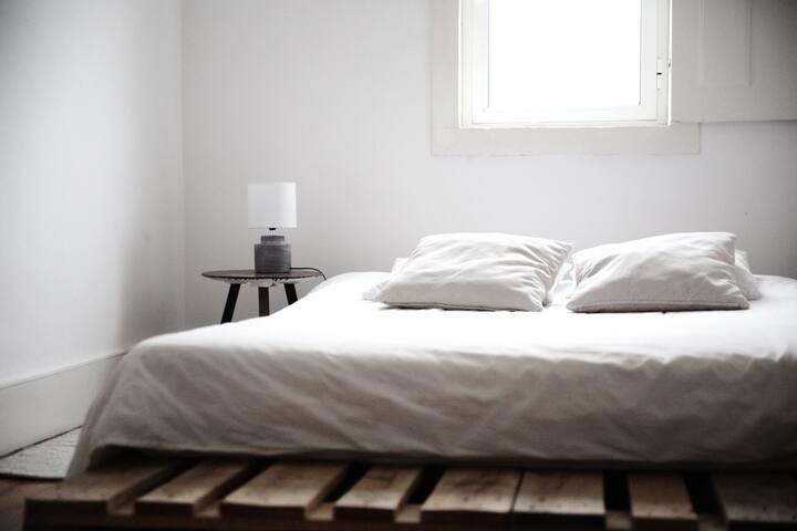 Scandinavian Bedroom on the Beach