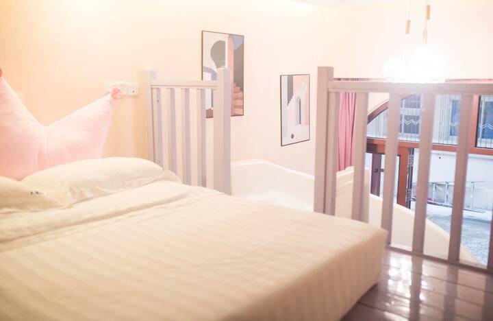 北戴河 刘庄 近海 滑梯房 不期而遇客栈 大床房 三人间