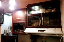 * Kitchen Full Of Equipments  * Modern Style   * Spot Calm Lighting   * Big Air extractor