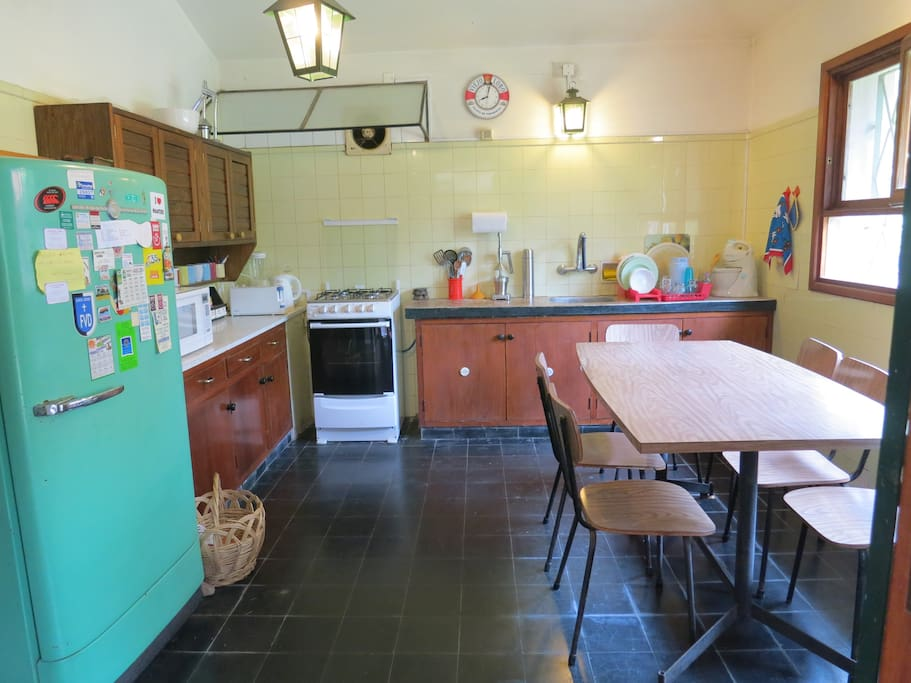 Kitchen, big and spacious, features 2 fridges
