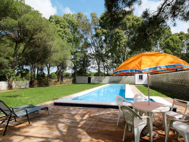 Holiday home in Chiclana de la Frontera, with pool, surrounded by garden
