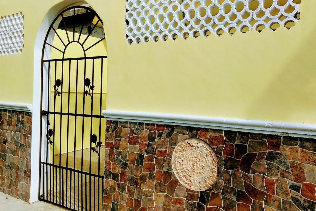 Entrance ,Casa Mango-Vanilla, Mayan Calendar