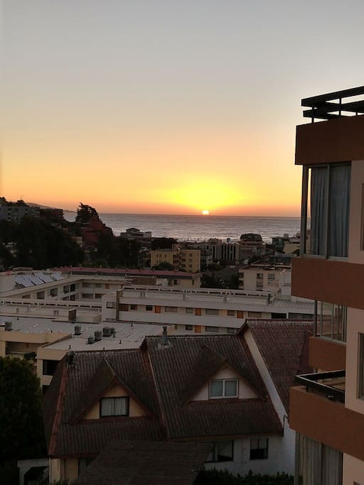 puesta de sol vista desde el depto