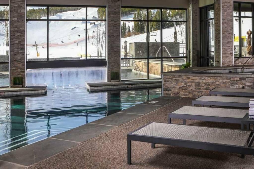 indoor aquatics area