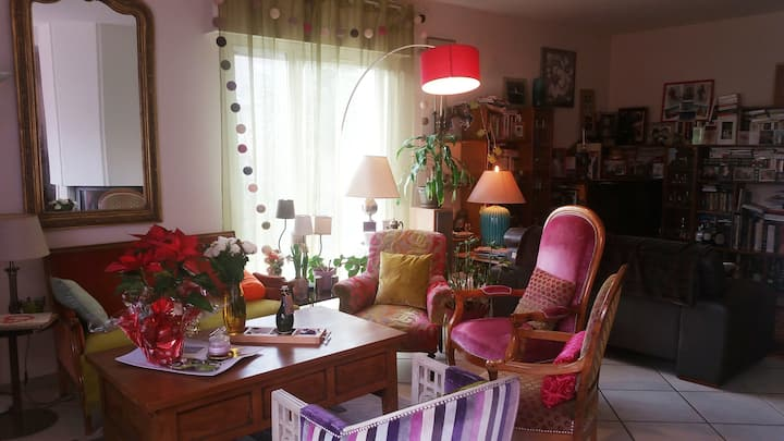 Chambres privées dans maison familiale avec jardin