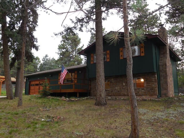 Elm Street Hideaway - Cozy Home in Woodland Park with Hot Tub