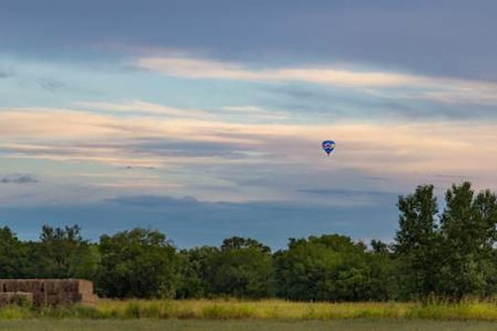 Hot air balloons can be spotted most mornings through out the city.