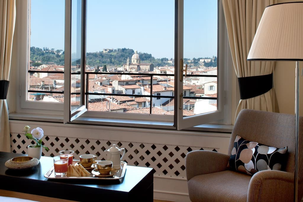 View from the Belvedere Firenze Suite