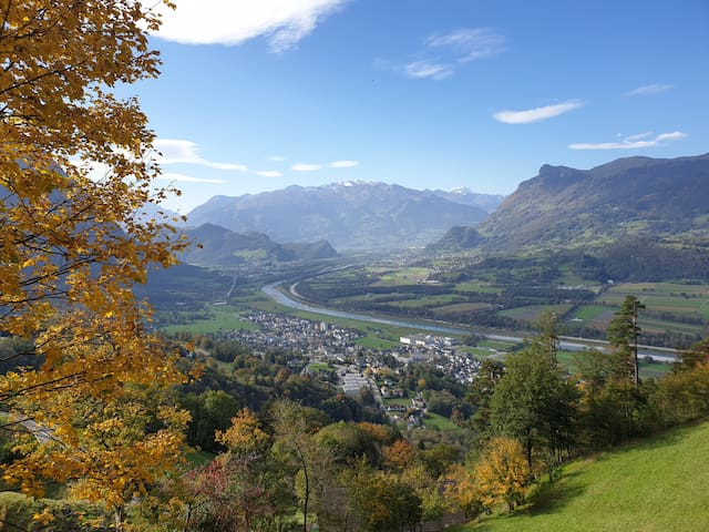 Mountain & Rhine Valley view Liechtenstein