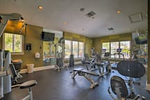 Get in a quick workout at the on-site fitness center.