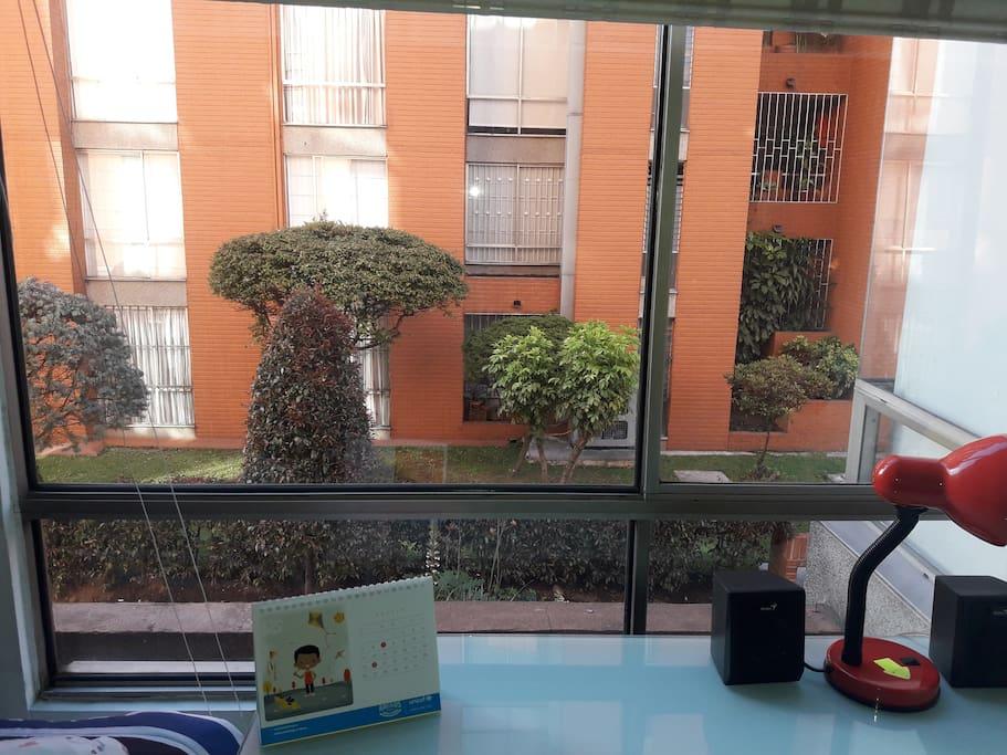 Vista desde la ventana del cuarto