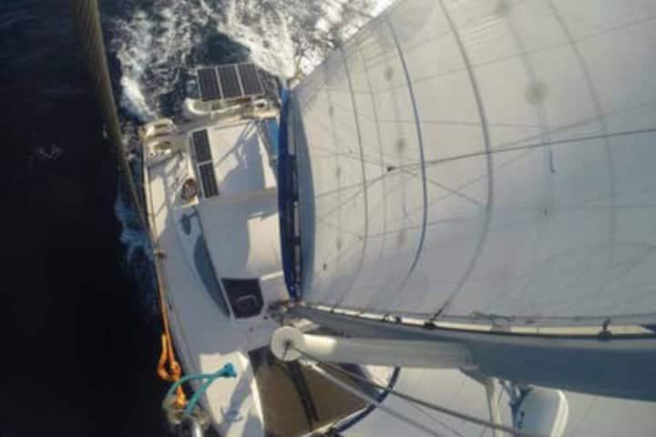 Live aboard our Sailing Catamaran