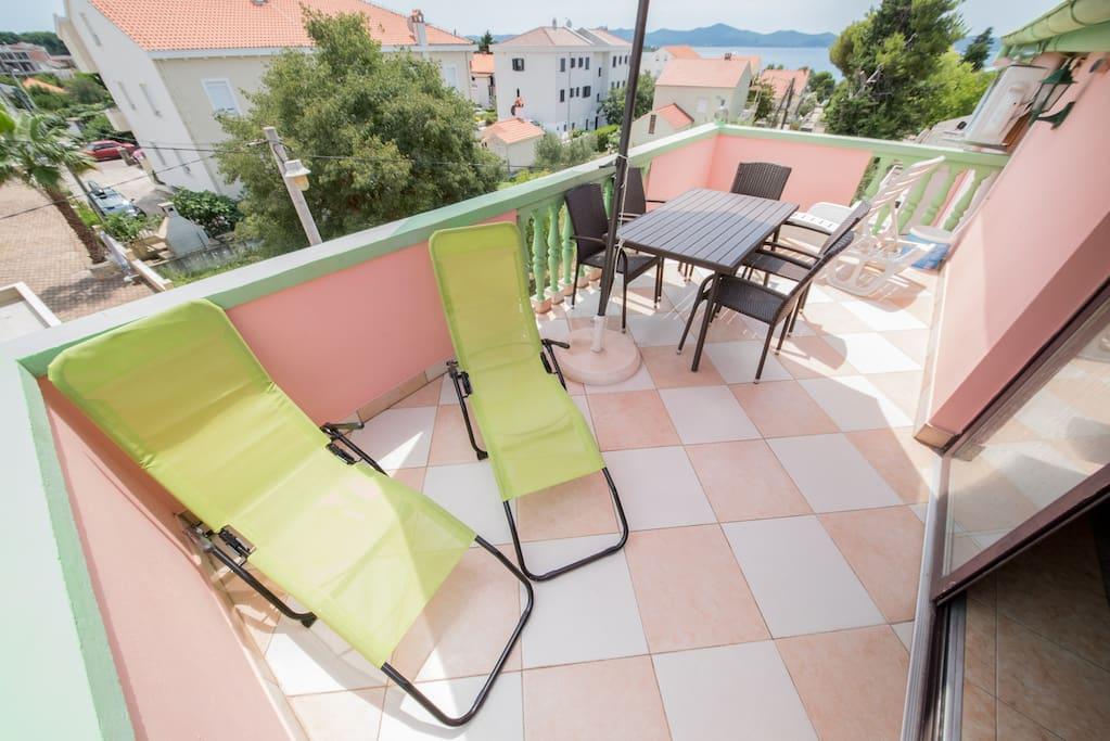 Large apartment terrace