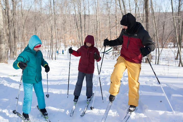 Bring your cross country skis when there is snow, trails are a blast!
