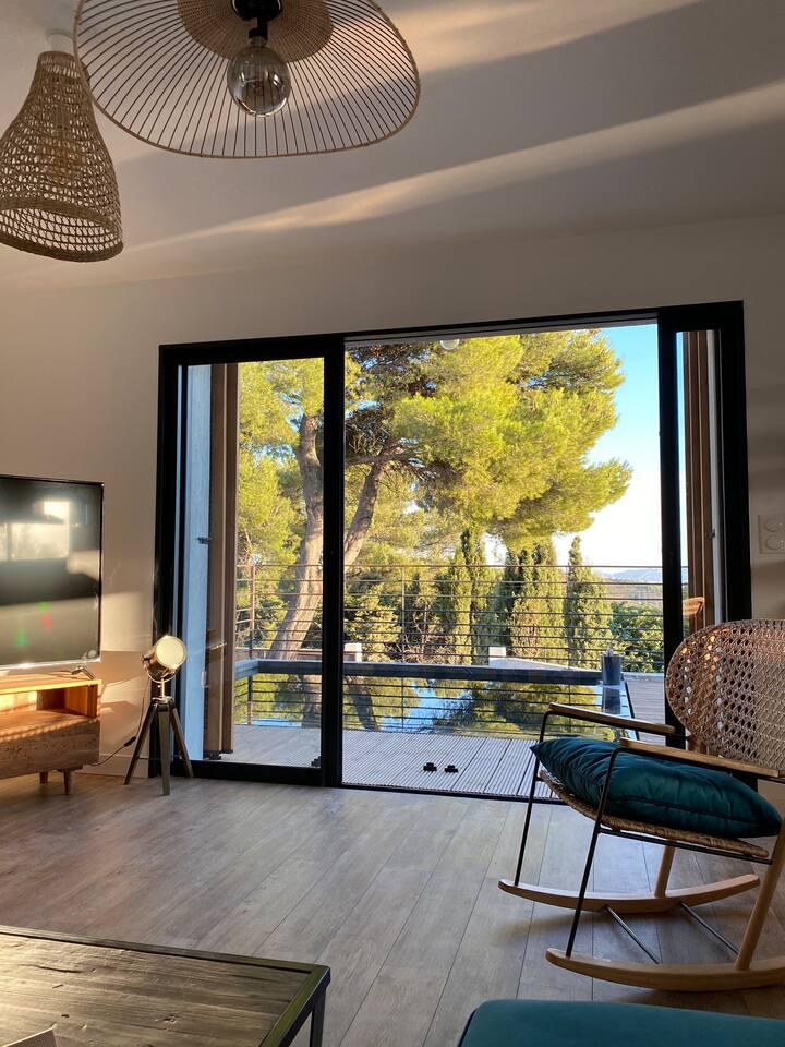 Chambre de standing/ Villa avec vue Panoramique