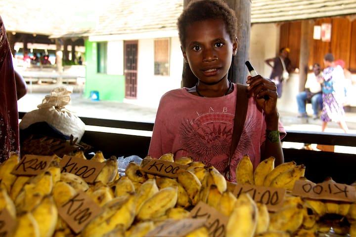 Bananas at Kokopo Market