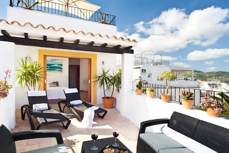 Amazing Double Terrace w/Sea View - Ibiza