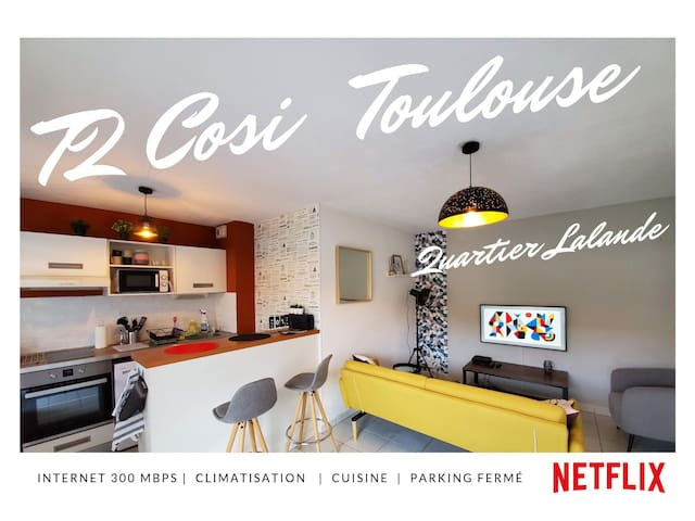 T2 Cosi climatisé tout confort - Quartier  Lalande