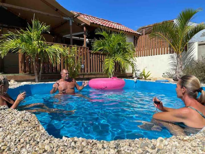 Luxe glamping lodge casa chiquito,3 slpk, 8 pers.