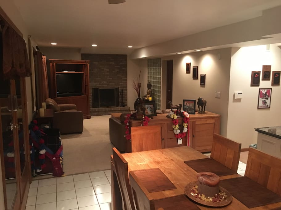Private Family Room with Cable TV and 2 Sleep Sofas