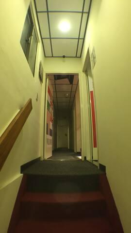 上樓之紅地毯走道