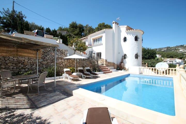 Blanca with private pool nice views - Benissa - Villa
