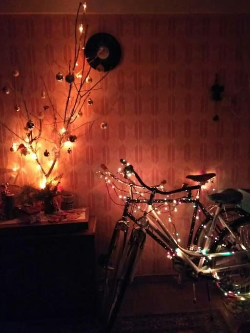 In our house there are many bicycles and postcards) We have two city bikes, which can be rented, if its will be free