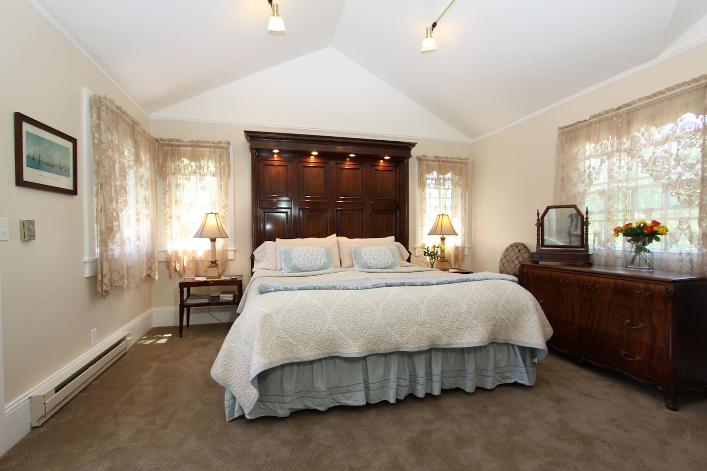 """Ultra-Premium REM Solutions Bed with the famous spa quality """"Comphy"""" sheets are a feature of this very special Sunrise room"""