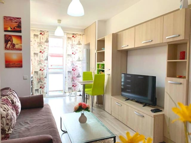 Ema's clean & comfortable apartment 5min to Palas