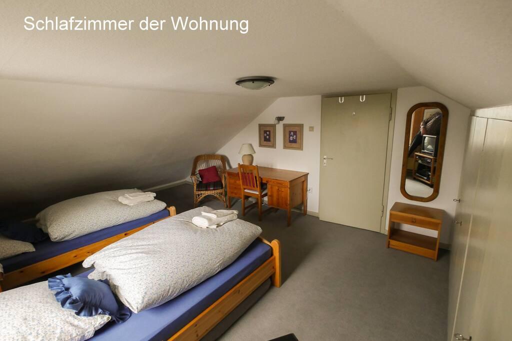 Schlafzimmer der Wohnung