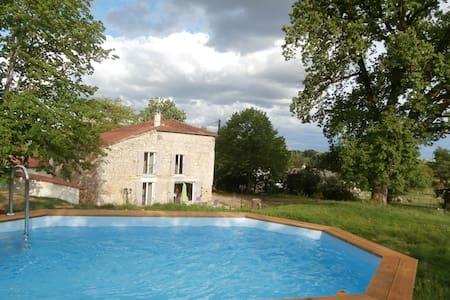 Demeure de charme en pierre Sud-Ouest avec piscine - Astaffort - House
