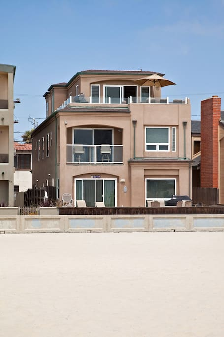 Ocean Front View. Our penthouse unit occupies the 2nd and 3rd floors.
