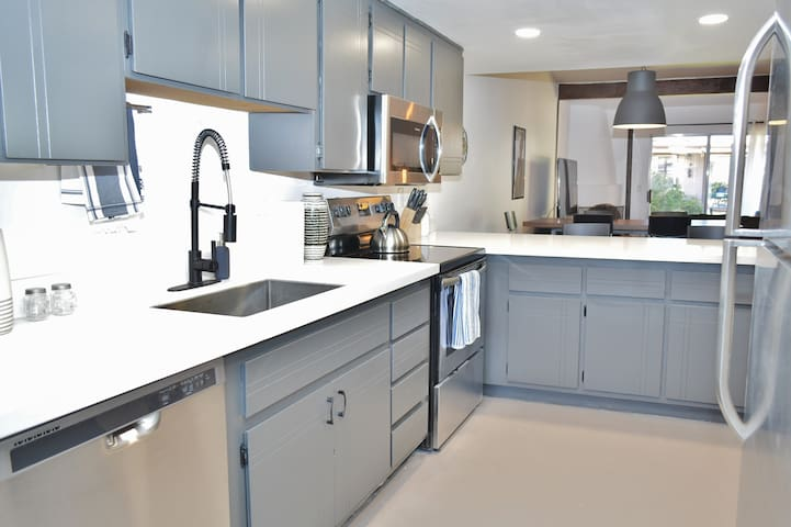 Enjoy cooking in the updated kitchen with brand new stainless steel appliances