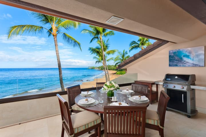 OCEAN FRONT! TOP FLOOR! SUNNY SURF E301 AT MAKENA SURF!