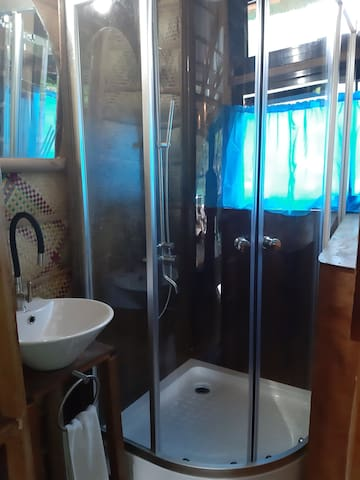 shower room in the 1st private bathroom