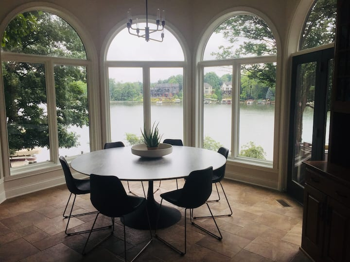 Lakefront on Geist family home