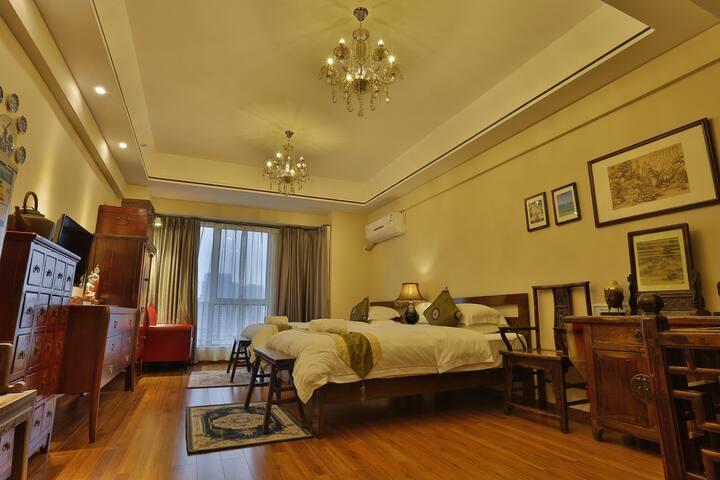 异国风情双床房 - Jiangmen - Appartement