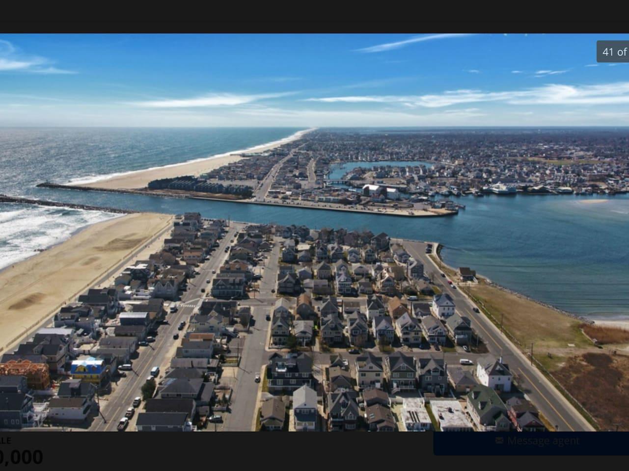Water surrounds us! Ocean, inlet, bay!