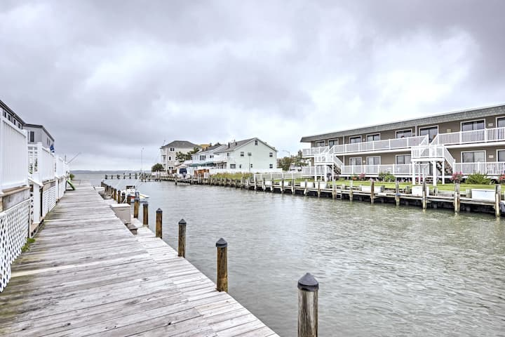 Waterfront Ocean City Townhome - Bay Side