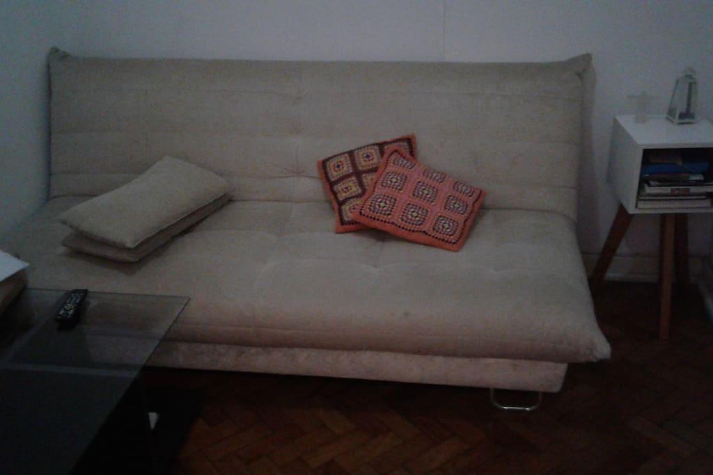 Sofá-cama na sala