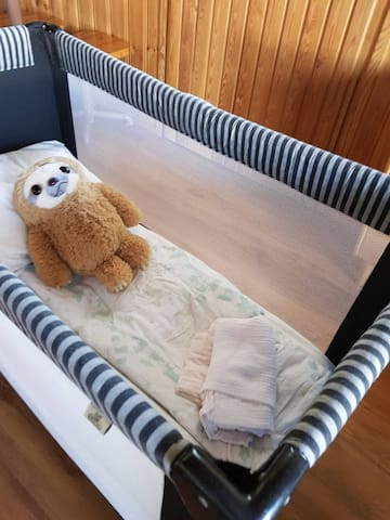 Baby crib available on request