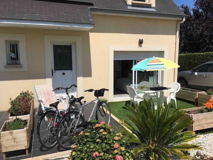 Bayeux Normandie terrasse studio plage