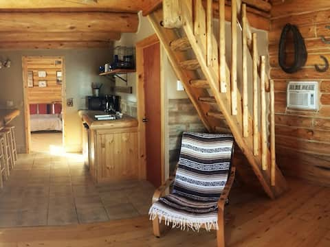 One Bedroom Log Cabin with Loft in Flaming Gorge at Rocky Ridge Outpost – Sleeps up to 7