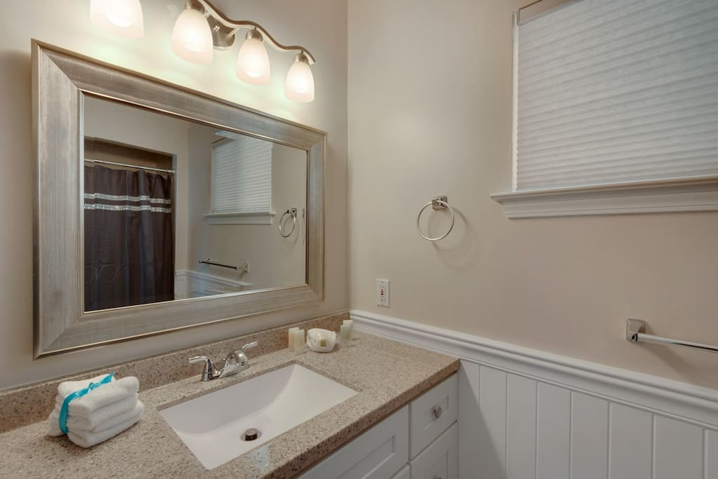 The Mother-In-Law en suite offers a walk in shower and full vanity
