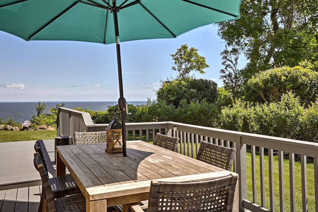 Enjoy spectacular views from this vacation rental house in Rocky Point, New York