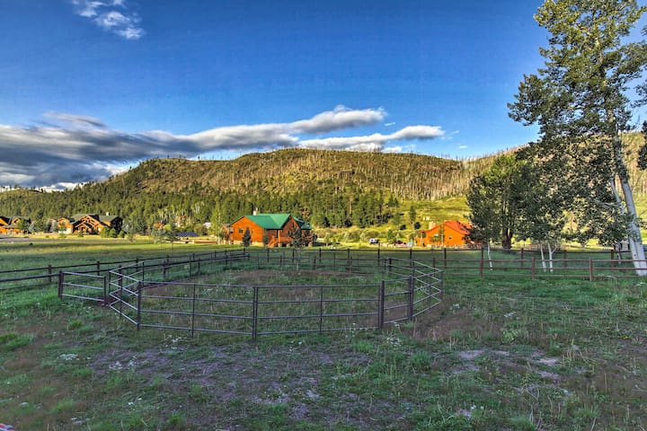 The property has a corral and fenced-in spot for your horses.