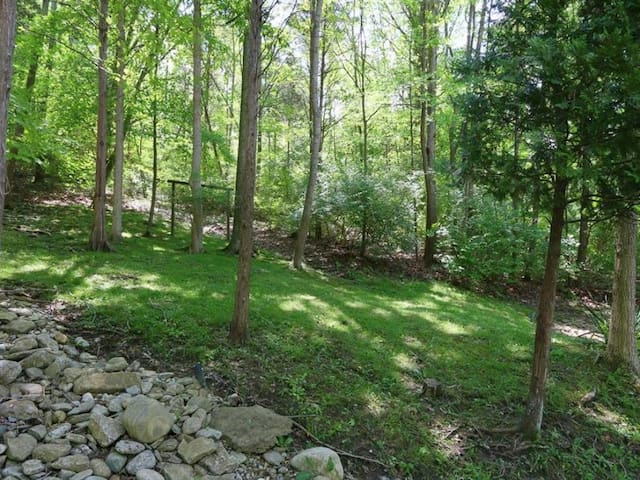 Nestled in the 2 acres  for a Gatlinburg feel.