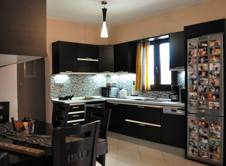 The open fully equipped kitchen.