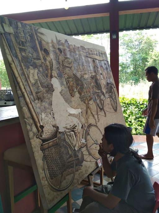 Wawan Geni, pelukis